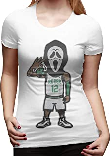 Women's Short-Sleeved T-Shirt Scary Terry Rozier Novel and Unique Design White
