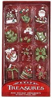 Kurt Adler Petite Treasures Miniature Christmas Ornaments 12 Pieces