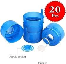 HSIULMY 20 Pcs Non Spill Caps,Reusable 55 mm 3 and 5 Gallon Water Jugs Anti-Splash Bottle Caps