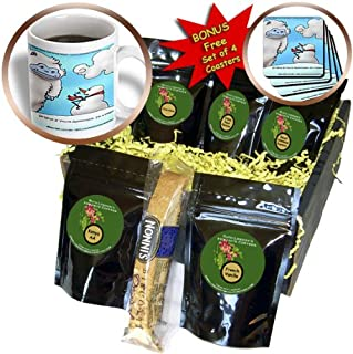 3dRose Londons Times Offbeat Cartoons - Holidays/Christmas - Vegan Snowman - Coffee Gift Basket (cgb_44980_1)