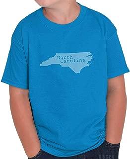 North Carolina State Map Shape Souvenir NC Youth T Shirt