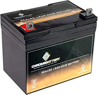 Chrome Battery 12V 35AH Rechargeable Sealed Lead Acid Wheelchair Battery Replaces 33ah Centennial CBM-33