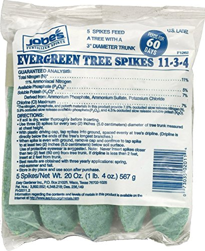 Jobe's 02011 Evergreen Fertilizer Spikes, 5 Bag