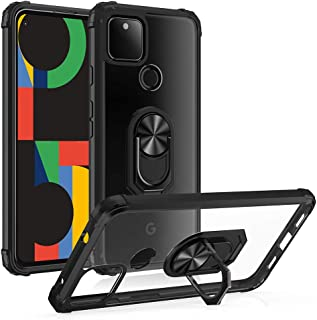 Google Pixel 5 Case,Google Pixel 5 Phone Case [Military Grade] Clear Crystal Drop d Protective Case with 360 Matal Magneti...