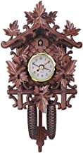 Zdtxkj 11822550Mm Wall Clocks Vintage Maple Leaf Black Forest Cuckoo Wall Clock for Living Room Home Hanging Pendulum Garden Clocks