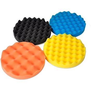 "SHINA 4Pcs 7""/180mm Compound Buffing Sponge Pads Polishing Pads Kit Buffing Pad for Car Buffer Polisher Sanding, Polishing, Waxing"
