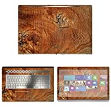 Decalrus - Protective Decal Wood Burl Skin Sticker for HP Envy 17M AE011DX (17.3' Screen) case Cover wrap HPenvy17_ae011dx-153