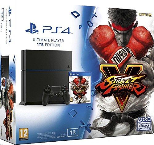 Console PlayStation 4 1 To Jet Black + Street Fighter V