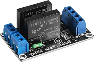 Aokin 2 Channel Solid State Relay Module 5V 2A High Level Trigger Black for Arduino Uno Duemilanove MEGA2560 MEGA1280 ARM DSP PIC
