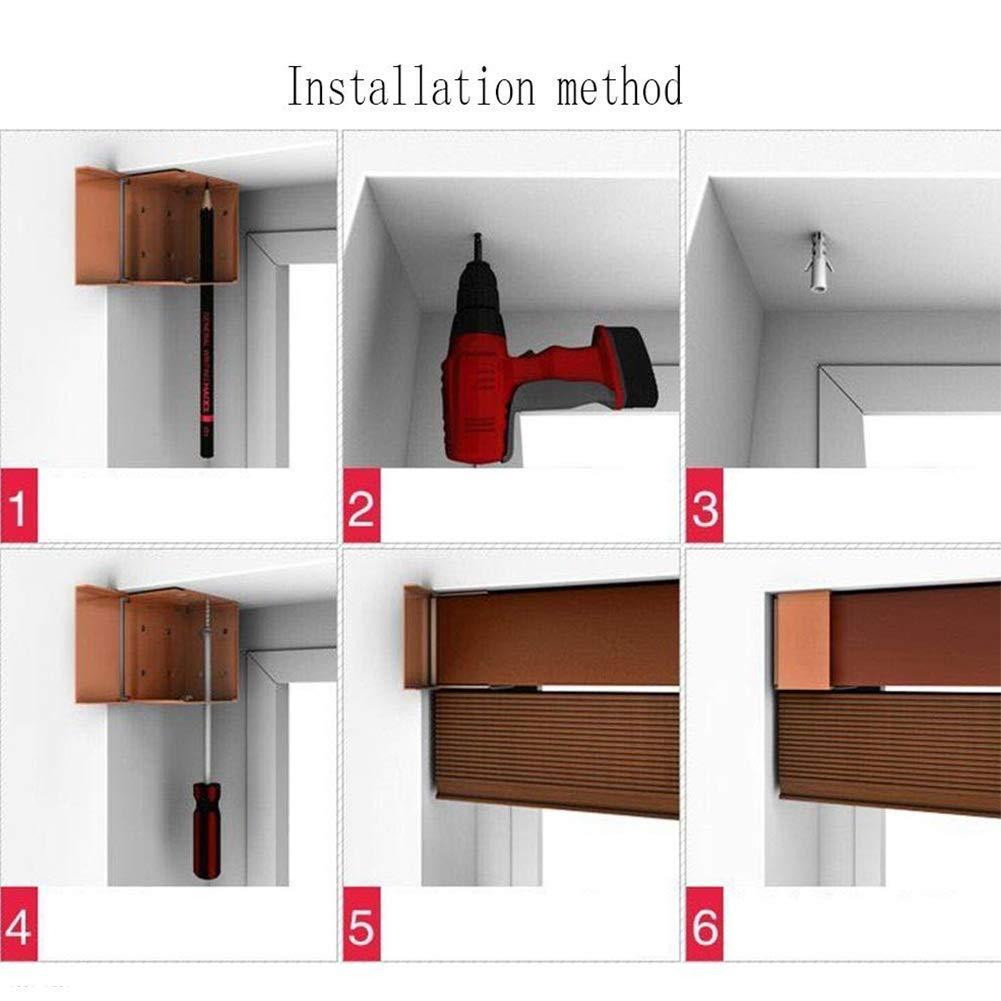 IDWOI - Estor Enrollable de Madera de Roble, de bambú, Resistente al Agua, Escalera de PVC para el baño, 3 Colores, Disponible en una Variedad de tamaños, Madera, 50X180cm: Amazon.es: Hogar