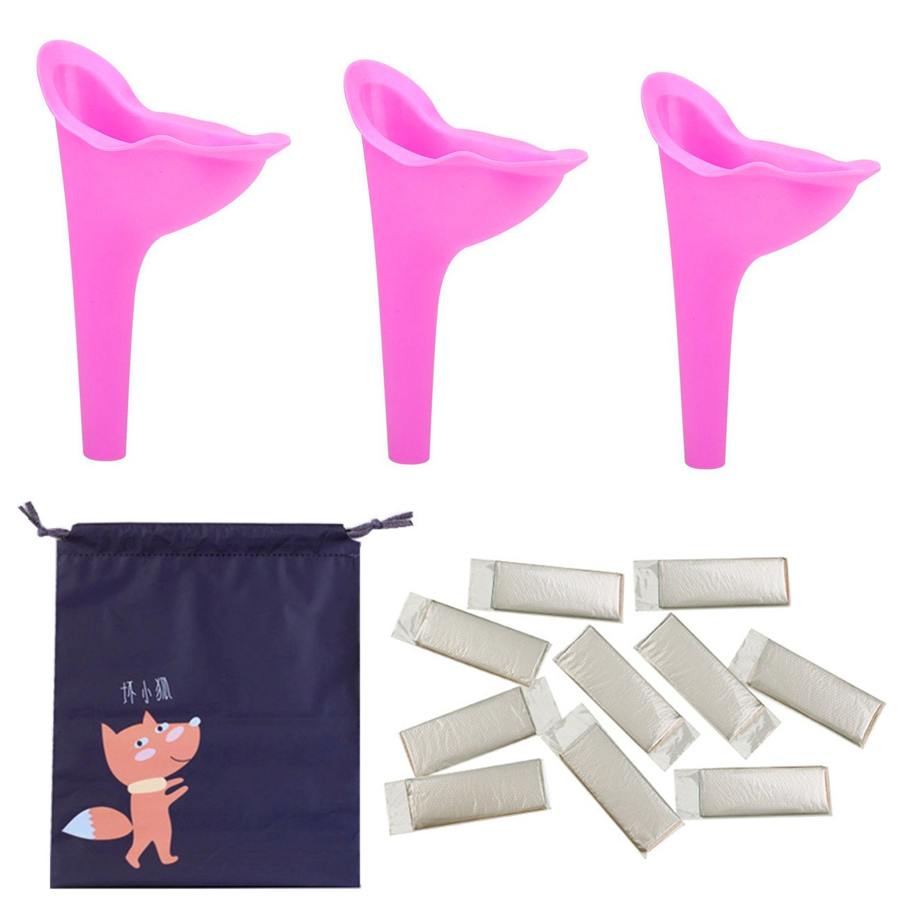 Portable Outdoor Camping Cycling Hiking Female Urinal Urine Funnel Travel Loo