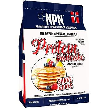 NPN Protein Pancake mix | Formula senza glutine | Tripla fonte proteica | Agitare e cuocere 26 frittelle | 910 g di formula originale norvegese