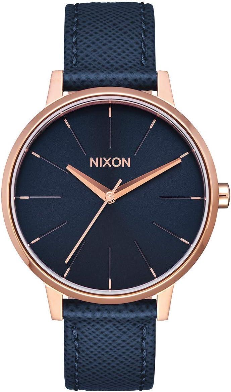 Nixon Kensington Leather -Spring 2017- Navy/Rose Gold