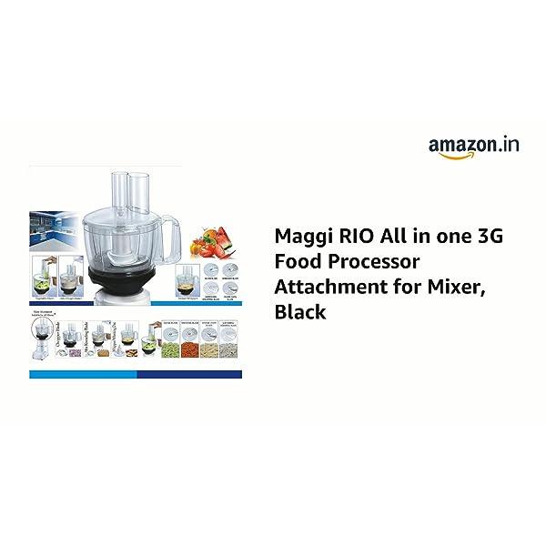 Maggi RIO All in one 3G Food Processor Attachment for Mixer (Black)