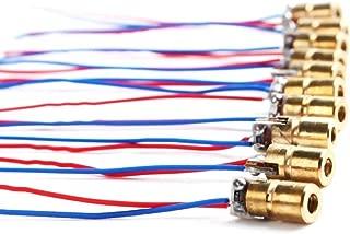 DTOL 10 x Mini Laser Dot Diode Module Head WL Red 650NM 6mm 5V 5Mw Pack of 10