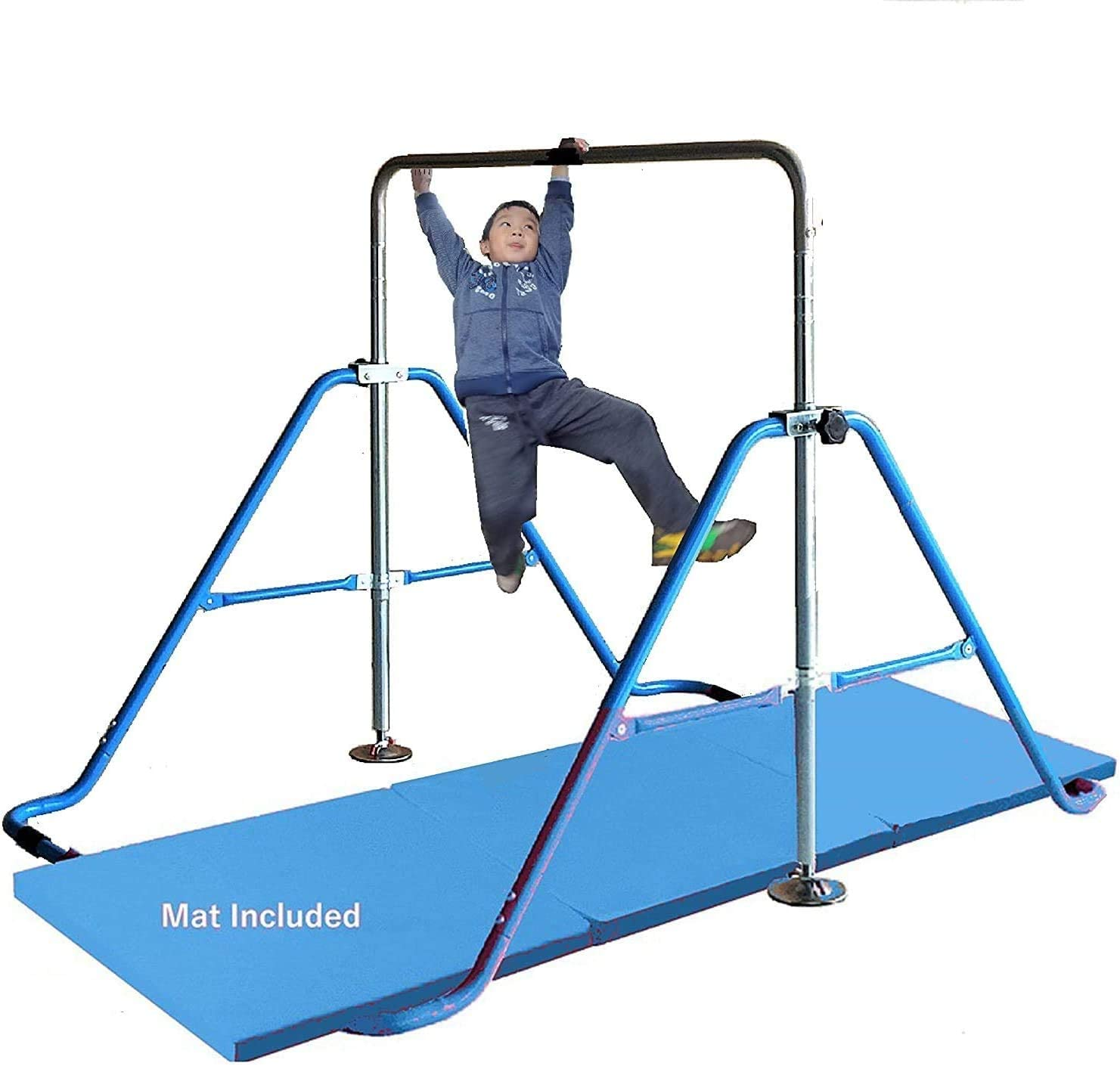 Gymnastics Bar for Kids with 2'x6' Tumble Heigh Mat All Popularity items in the store Expandable