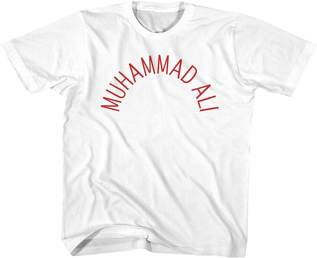 MUHAMMAD ALI Unisex-Child Arch Text T-Shirt