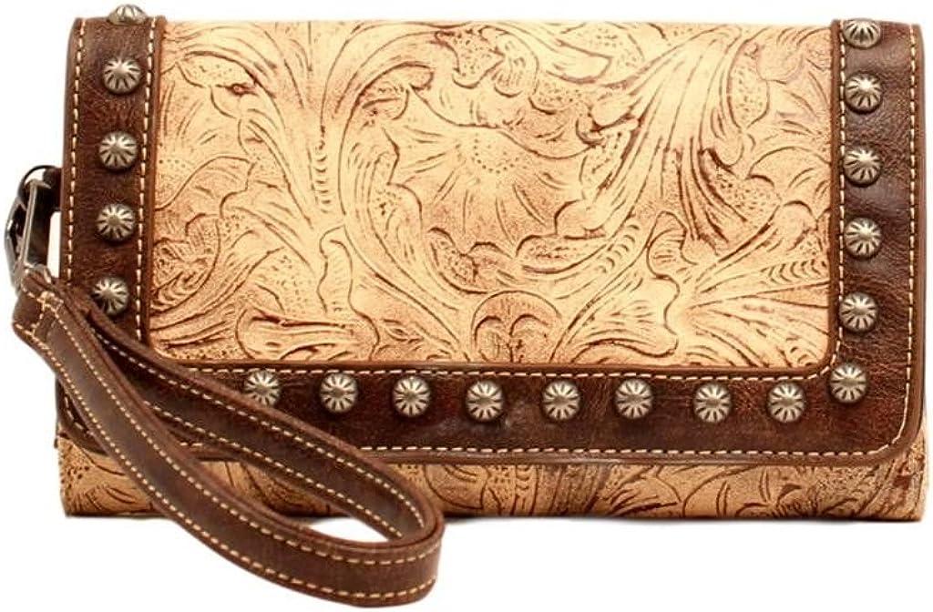 Blazin Roxx Women's Embossed Brand Cheap Sale Venue Lowest price challenge Clutch Wallet Studded