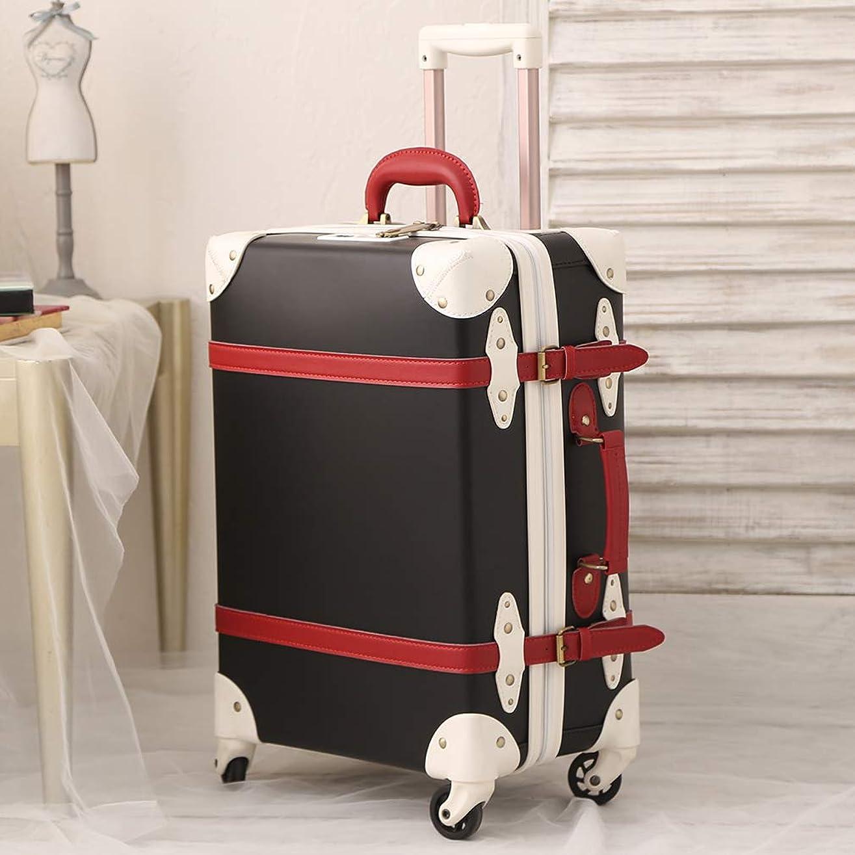 気体の等々ゴムスーツケース 大型 機内持込 トランク 革 トランク レトロ TSA ベルト