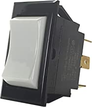 McGill 0861-0001N Series 0861 Rocker Switch, Single Pole, ON-Off Circuitry, SPDT Pole, 10 and 15 Amp, 1/2 hp, 125 and 250 VAC