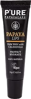 P'URE PAPAYACARE Papaya Lips - Australian Organic Papaya For Dry Cracked Lips, Protect, Hydrate & Moisturize - Vitamin C, Shea Butter, Calendula - VEGAN, 100% Natural, (0.35 oz)