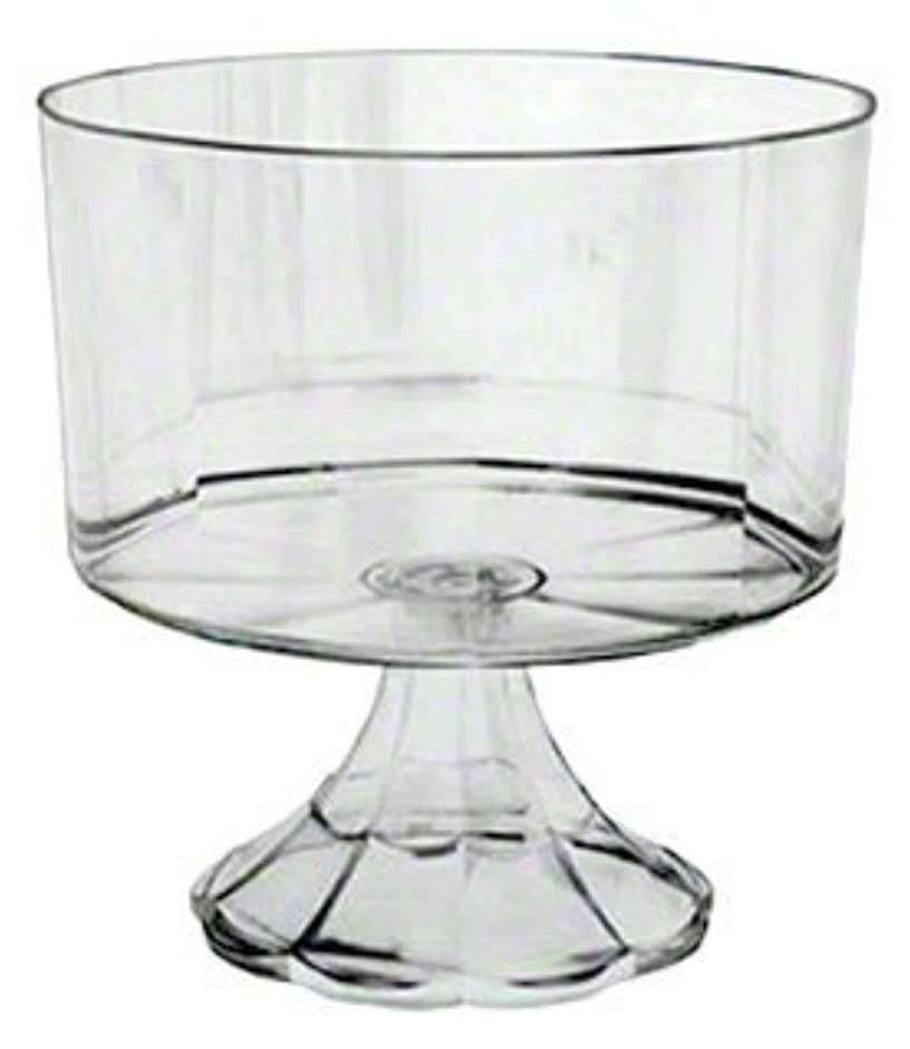 12 Heavy Weight Disposable Plastic Clear Pedestal Trifle Bowl 120 oz Trifle Bowls Also Used as Clear Serving Bowls Pasta Bowls Salad Bowl Fruit Bowl Punchbowl Popcorn bowl …