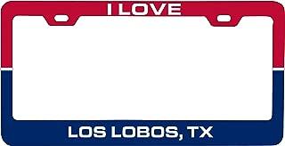 R and R Imports Los Lobos Texas Car Metal License Plate Frame