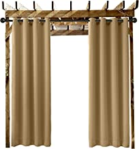 Extra Wide Outdoor Curtain Wheat 120