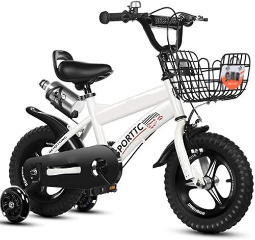 descuento online YUMEIGE Bicicletas Bicicleta para Niños Niños Niños de 12 14  16 18  4 Colors con hervidor de Agua Adecuado para 2-9 años de Ciclismo de Niños Disponible (Color   blanco, Talla   12in)  ahorra hasta un 30-50% de descuento