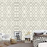 Motif nordique style géométrique Fond d'écran auto-adhésif Salon Papier peint PVC Télévision chevet fond mur Papier Peint (Color : As shown 10mx45cm)
