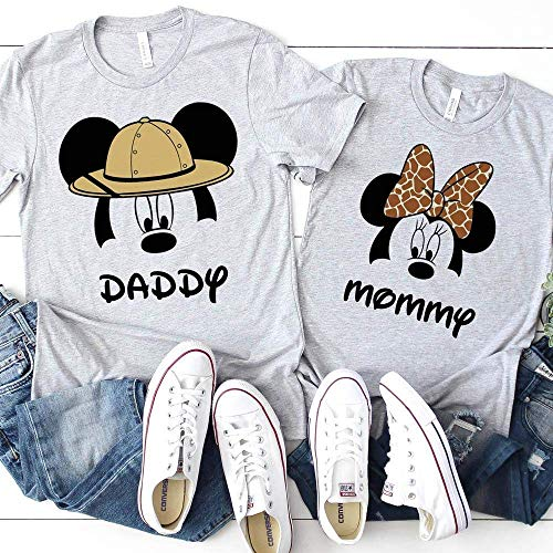 Matching Mickey Minnie Family T-Shirts Animal Kingdom Safari Women Kids Baby Adult Couples Shirts