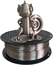 Silk Rose Gold PLA 3D Printer Filament 1.75mm 1KG 2.2LBS Spool 3D Printing Silky Shiny Rose Gold (Dark) Metallic PLA Materials CC3D Coffee Brown Chocolate