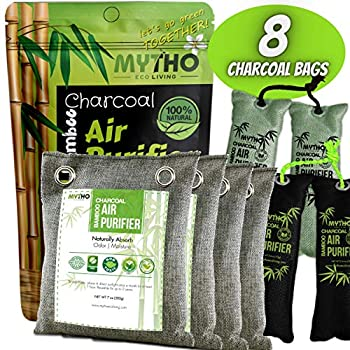 MYTHO Air Purifier Bags Bamboo Charcoal Air Purifying Bags Activated Charcoal Air Purifying Bag Odor Eliminators For Home Activated Charcoal Odor Absorber Odor Eliminator Closet Deodorizer