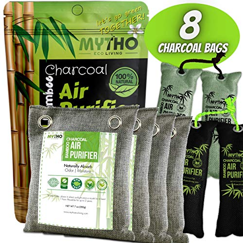 MYTHO Air Purifier Bags, Bamboo Charcoal Air Purifying Bags, Activated Charcoal Air Purifying Bag Odor Eliminators For Home, Activated Charcoal Odor Absorber, Odor Eliminator, Closet Deodorizer