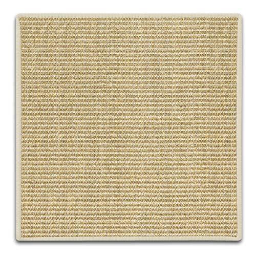 Floordirekt Sisal Fußmatte Teppich Vorleger Kratzteppich Katzenmöbel Kratzmatte Sisalmatte, widerstandsfähig & in vielen Farben und Größen erhältlich (50 x 50 cm, Elfenbein)