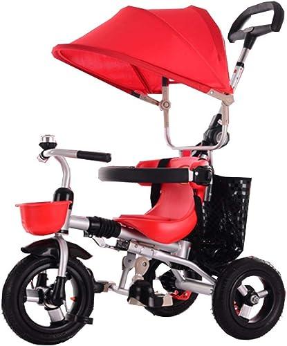comprar mejor Triciclo Plegable para Niños Niños Niños carritos para bebés Carriagel neumático no Inflable para Asientos de 6 Meses a 6 años Puede rojoar con toldo y Freno Trasero  directo de fábrica