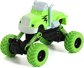 KAVITE Pull Back Toy Cars for Kids 2 3 4 5 Years Old with Big Wheels for Crashing and Smashing (Green)