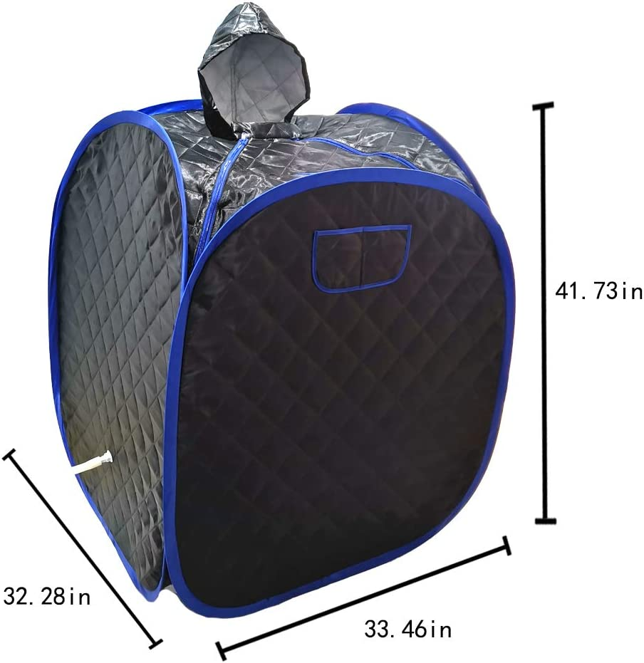 Portable One Person Full Body Spa Box for Weight Loss Detox Therapy Black Hoolife Steam Sauna Tent Steamer NOT Included