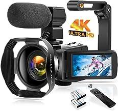 Sponsored Ad - 4K Video Camera Camcorder 48.0MP Digital Camera IR Night Vision WiFi Vlogging Camera with External Micropho...