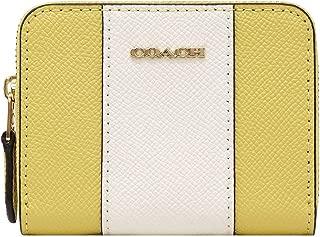 Coach Mini Zip Around Card Case in Crossgrain Leather Sunflower F68623