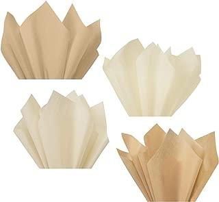 Beige Sand Tan Light Tan Linen Assorted Mixed Color Multi-Pack Tissue Paper for Flower Pom Poms Art Craft Party Gift Bag Basket Filler