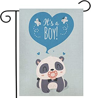 Ogiselestyle It's A Boy Garden Flag Baby Shower Birth Vertical Double Sided Burlap Yard Outdoor Decor 12.5 x 18 Inch