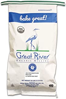 Great River Organic Milling, Bread Flour Blend, All Purpose Whole Wheat, Stone Ground, Organic, 25-Pounds (Pack of 1)