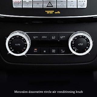 Moligh doll Coperchio del Rivestimento del Supporto della Tazza della Console Centrale per Mercedes GLK Classe X204 2010-2015 Nero