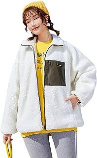 TEAFOR ボアコート レディース ボアジャケット カジュアル 長袖 フリースジャケット もこもこ 保温防寒 ゆったり 厚手 暖かい 可愛い 人気 女性用 ファッション アウトドア ジャケット ボアブルゾン ふわふわ コート 秋冬 通勤 通学