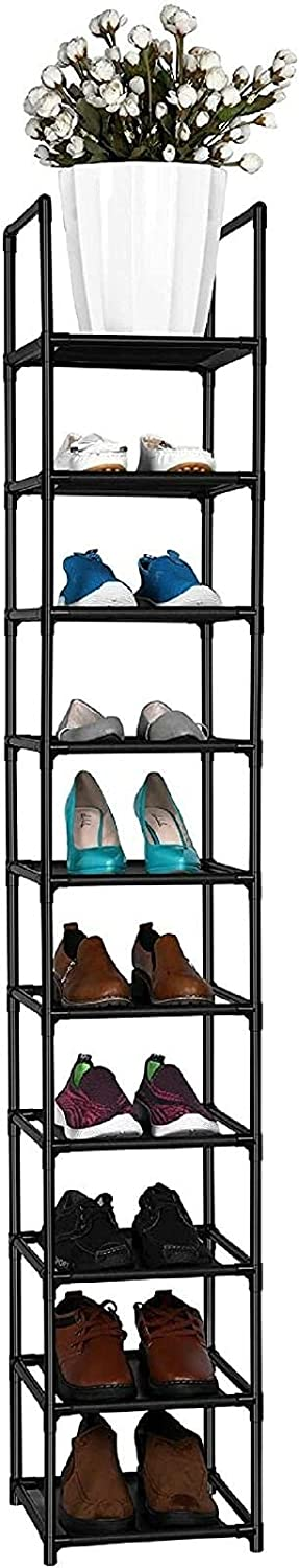 10 Tiers Clearance SALE! Limited time! Shoe Rack Space Saving Sturdy Pairs Outlet SALE Vertical Sho Single