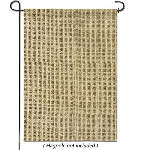 hblife Personalized Blank Burlap Garden Flag Happy Camper Banner Lawn Yard Outdoor Seasonal Holiday DIY Flag for New Home Gift Wedding Gift Housewarming Gift Home Decor,One-Sided (Set of 1)