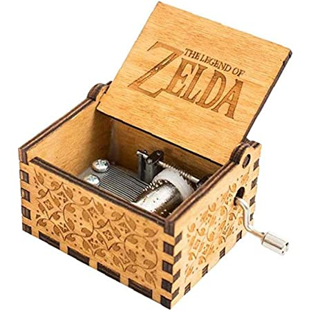 Zelda Music Box Di Legno Musica Classica Scatola Regalo Di Compleanno Della Manovella Antico Classico Legno Intagliato Scatole Musicali Brown Prodotto Del Bambino