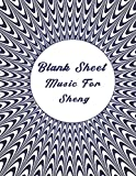 blank sheet music for sheng: music manuscript paper, optical illusion cover, clefs notebook, composition notebook, blank sheet music compositio, (8.5 ... composition books gifts | gifts standard for