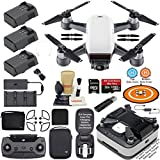 DJI Spark Drone Quadcopter Fly More Combo (Alpine White) wit...